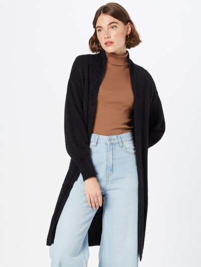 JDY Knitted Coat 'ALESSI' in Black, View model