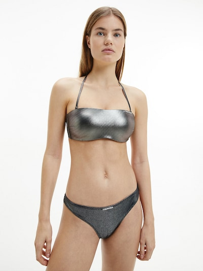 Calvin Klein Swimwear Bikinitop in de kleur Zilver, Modelweergave