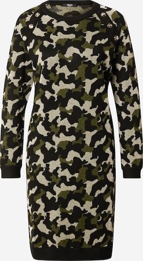LIU JO JEANS Kleid 'ABITO MAGLIA' in beige / grün / schwarz, Produktansicht