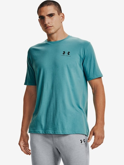 UNDER ARMOUR Functioneel shirt in de kleur Smoky blue: Vooraanzicht