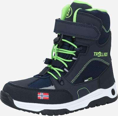 TROLLKIDS Snowboots  'Lofoten ' in navy / neongrün, Produktansicht