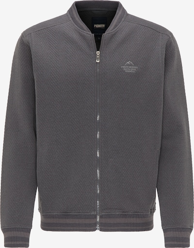 PIONEER Sweat-Jacke in grau, Produktansicht