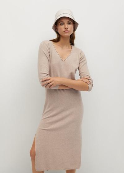 MANGO Kleid 'rolly' in beige, Modelansicht
