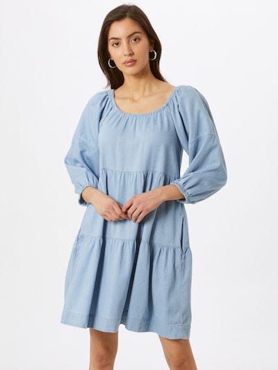 VILA Robe 'CALEY NIRA' en bleu clair, Vue avec modèle