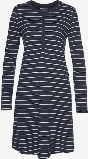 SCHIESSER Nachthemd in de kleur Nachtblauw / Wit, Productweergave
