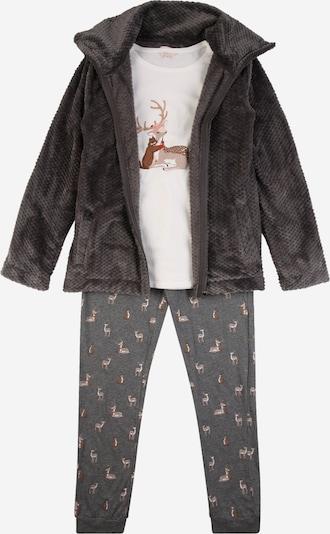 ETAM Pyjamas 'OHAIO' i grå / antracit / blandade färger / ullvit, Produktvy