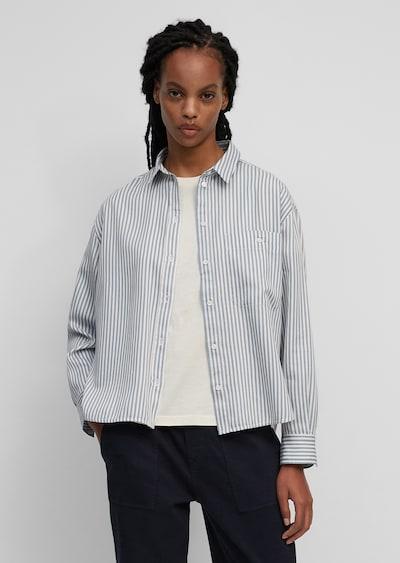Marc O'Polo Bluse in hellblau / weiß, Modelansicht