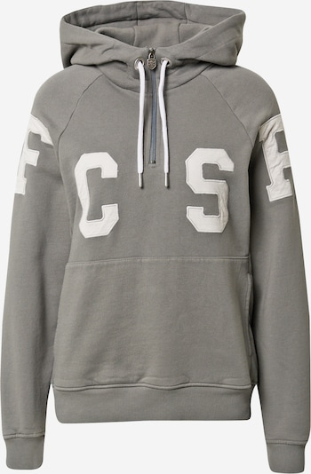 FC St. Pauli Sweat-shirt en gris / blanc: Vue de face