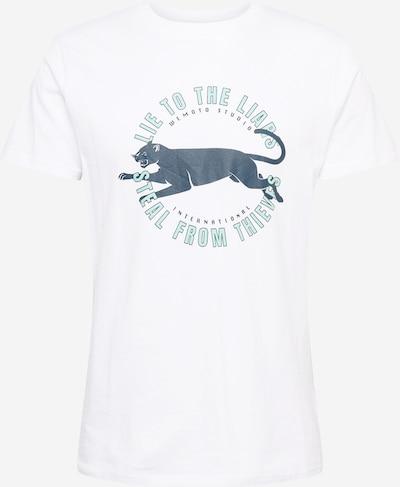 Wemoto T-Shirt 'LIAR' in marine / hellblau / weiß, Produktansicht
