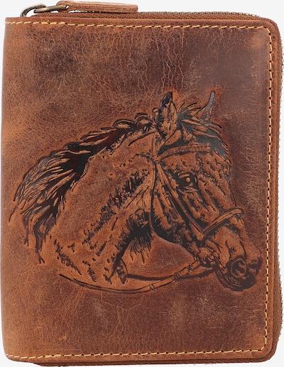 GREENBURRY Portemonnaie in braun / dunkelgrau, Produktansicht