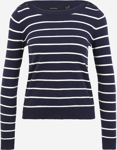 Vero Moda Petite Trui 'ALMA' in de kleur Donkerblauw / Wit, Productweergave