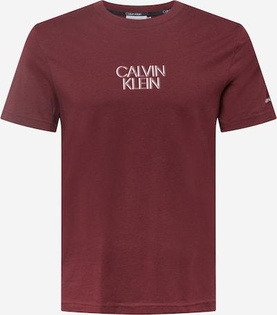 Calvin Klein Tričko - vínovo červená / biela, Produkt