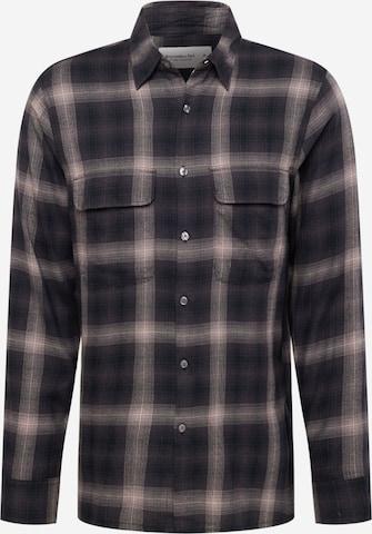 Abercrombie & Fitch Hemd in Schwarz