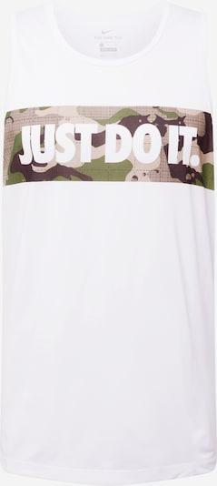 NIKE T-Shirt fonctionnel en pueblo / cappuccino / olive / blanc, Vue avec produit