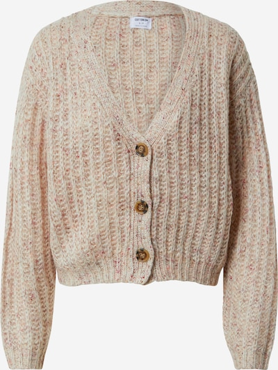 Cotton On Gebreid vest in de kleur Lichtbeige / Oudroze / Pastelrood / Wit, Productweergave