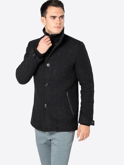 INDICODE JEANS Płaszcz przejściowy w kolorze czarnym, Podgląd na modelu(-ce)