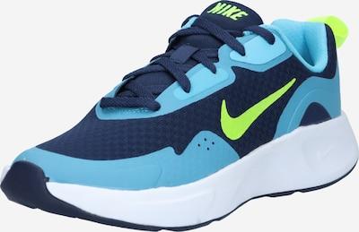 Sneaker Nike Sportswear di colore navy / turchese / verde neon, Visualizzazione prodotti