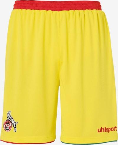 UHLSPORT Sporthose in gelb / rot, Produktansicht