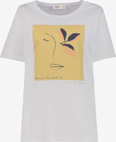 Ulla Popken Tričko - zlatě žlutá / černá / bílá, Produkt