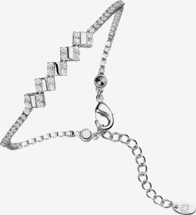 Lunavit Armband 'Quad' in grau / silber, Produktansicht