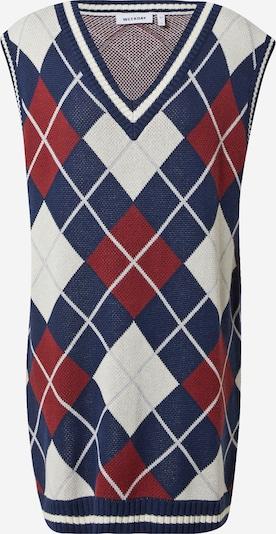 WEEKDAY Pletena haljina u tamno plava / krvavo crvena / bijela, Pregled proizvoda