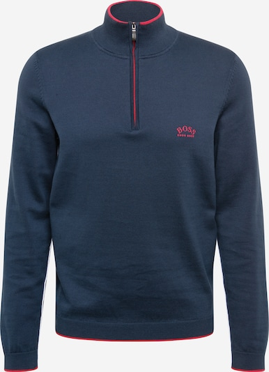 BOSS ATHLEISURE Sweater 'Ziston' in Navy / Light red, Item view