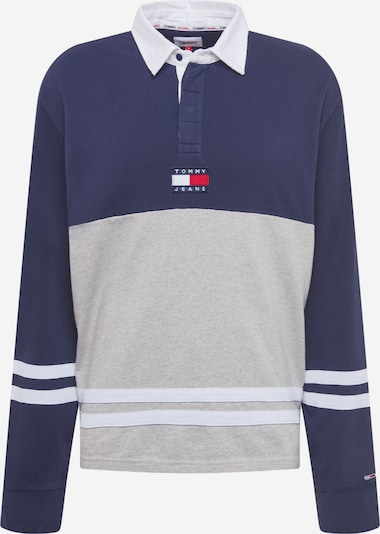 Tommy Jeans Sweatshirt 'Rugby' in Navy / mottled grey / White, Item view