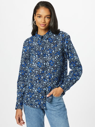 UNITED COLORS OF BENETTON Blouse in de kleur Nachtblauw / Azuur / Opaal / Royal blue/koningsblauw, Modelweergave