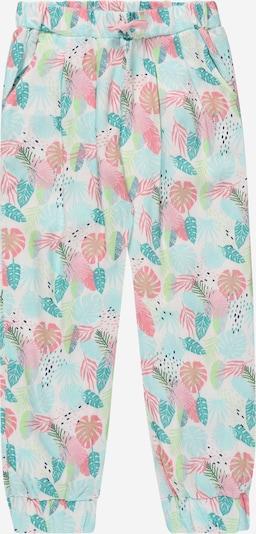KANZ Pantalon en bleu clair / pétrole / rosé / rose ancienne / blanc, Vue avec produit