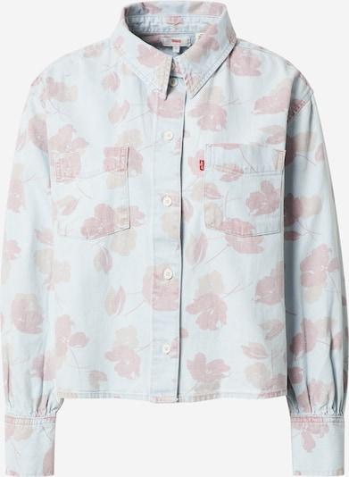 LEVI'S Bluse 'ZOEY' i lyseblå / mørkerød, Produktvisning