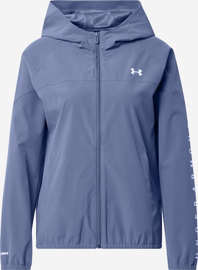 UNDER ARMOUR Sportjas in de kleur Smoky blue / Wit, Productweergave