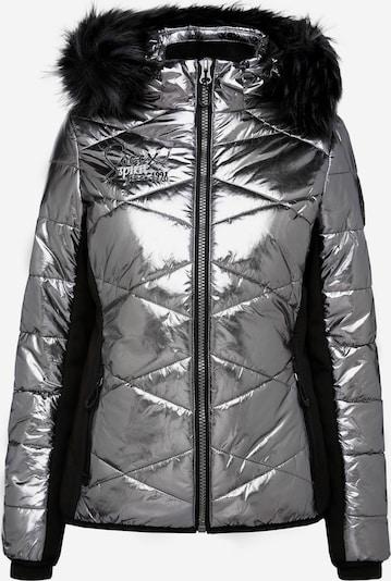 Soccx Steppjacke im Ski-Design mit Metallic Look in silber, Produktansicht