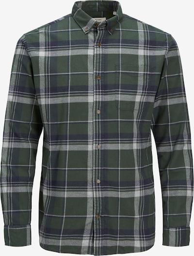 JACK & JONES Hemd in navy / dunkelgrün / weiß, Produktansicht