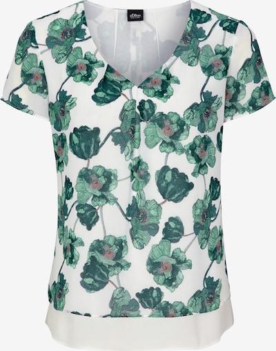 Bluză s.Oliver BLACK LABEL pe verde / roz / alb, Vizualizare produs