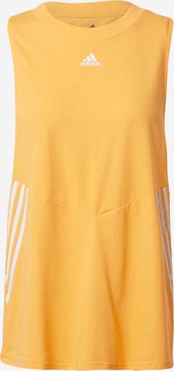 ADIDAS PERFORMANCE Top deportivo en naranja claro / blanco, Vista del producto