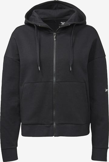 Bluză cu fermoar sport REEBOK pe negru, Vizualizare produs