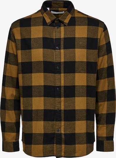 SELECTED HOMME Skjorta i mörkblå / honung, Produktvy