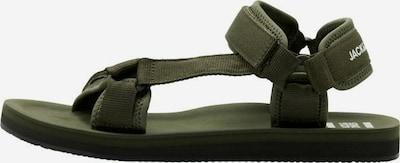 JACK & JONES Sandals in Dark green / White, Item view
