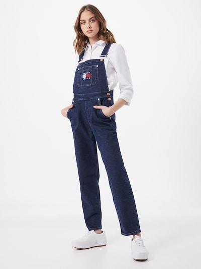 Tommy Jeans Salopette en jean en bleu foncé, Vue avec modèle
