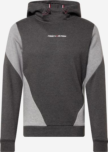 Hanorac sport Tommy Sport pe albastru închis / gri închis / gri amestecat / roșu / alb, Vizualizare produs