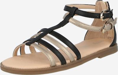 GEOX Sandale in gold / schwarz, Produktansicht