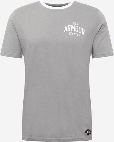 UNDER ARMOUR Shirt in grau / weiß, Produktansicht
