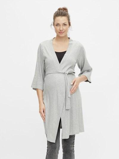 MAMALICIOUS Сутрешен халат 'Filuka' в сив меланж: Изглед отпред
