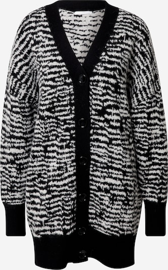 BOSS Casual Knit cardigan 'Fanaka' in Black / White, Item view