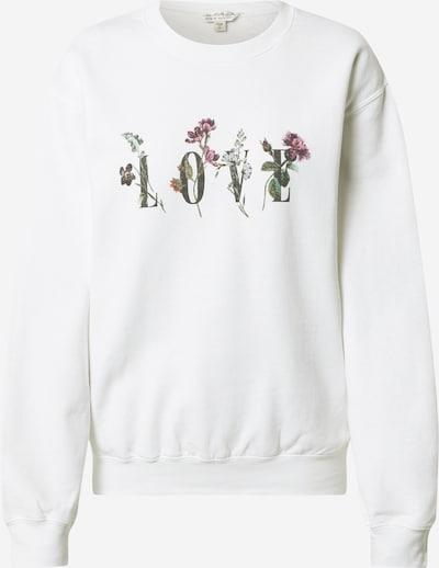 Miss Selfridge Sweat-shirt 'LOVE' en vert / rose / noir / blanc, Vue avec produit