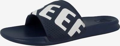REEF Strand-/badschoen 'One Slide' in de kleur Navy / Wit, Productweergave
