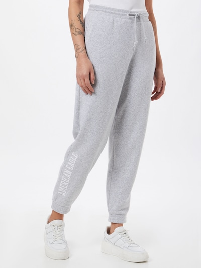 American Eagle Trousers in Grey / White, View model