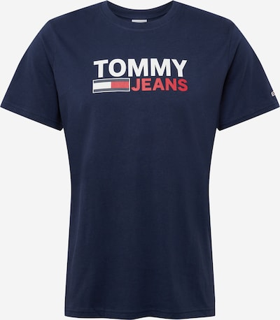 Tommy Jeans Тениска в нейви синьо / червено / бяло, Преглед на продукта