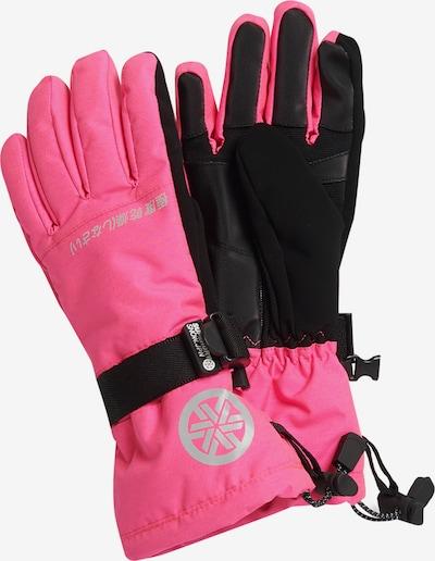 Superdry Vingerhandschoenen in de kleur Grijs / Pink / Zwart, Productweergave
