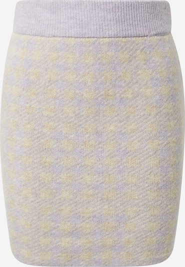 Fustă 'CHEKINA' VILA pe galben deschis / mov liliachiu, Vizualizare produs